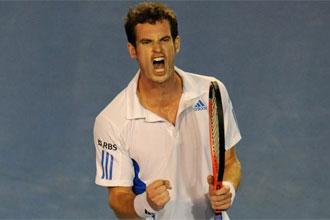 Murray celebra su pase a la final del Open de Australia.