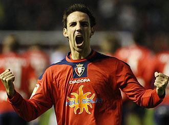 Juanfran celebra un gol ante el Espanyol