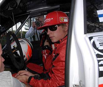 Raikkonen, en un Rally.