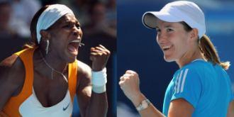 Serena Williams y Justine Henin, cara a cara.