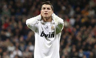 Cristiano Ronaldo se lamenta tras ser expulsado ante el M�laga