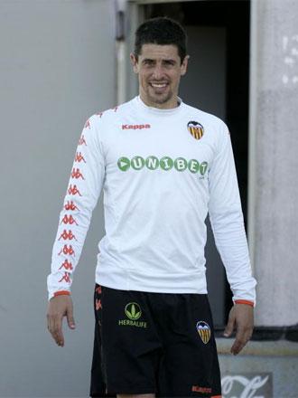 Del Horno, durante uno de los entrenamientos del Valencia.