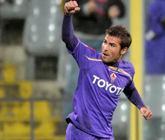 Mutu celebra un gol en el Artemio Franchi de Florencia.