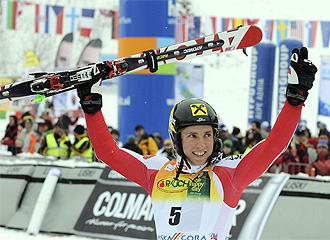El austríaco celebra su triunfo