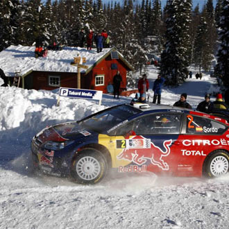 Sordo disputa el Rally de Noruega en una im�gen de archivo