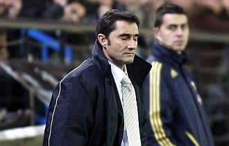 Ernesto Valverde durante su último partido al frente del Villarreal.