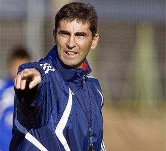 Jos� Aurelio Gay durante un entrenamiento.