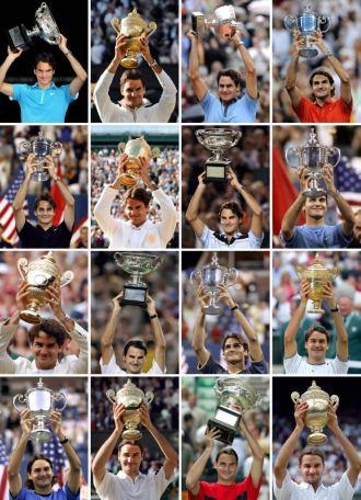 Mix con todos los Grand Slam de Roger Federer.