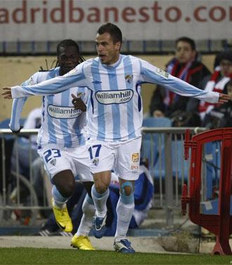 Duda celebra su gol en el Calder�n