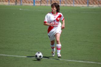 Sonia Vesga 'Burgos', en un partido con el Rayo la temporada pasada.