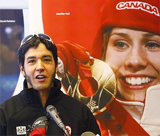 Brian McKeever, en el acto donde se anunció su doble participación en Vancouver