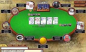 Mesa de poker online.