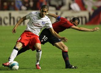 Guerrero, durante un encuentro ante Osasuna