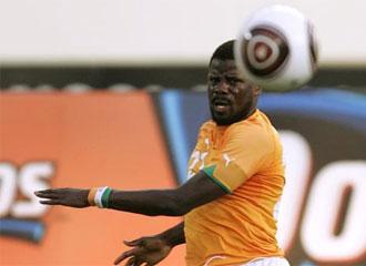 Eboue, en un partido con Costa de Marf�l.