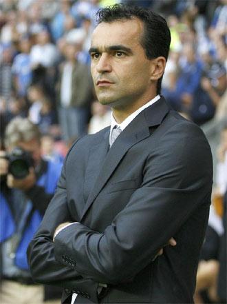 Roberto Mart�nez durante un partido