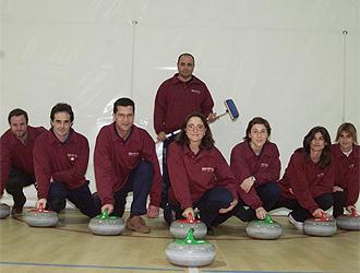 El equipo de curling que represent� a Espa�a en el campeonato de Europa de 2002