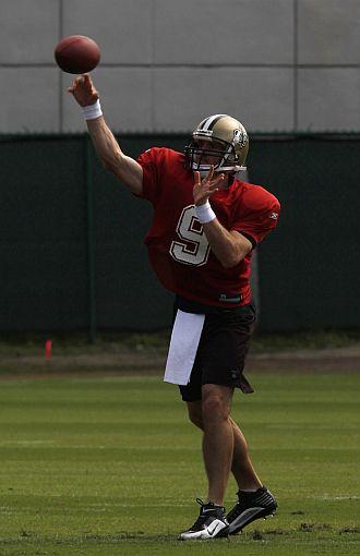 El quarterback de los Saints, Drew Brees