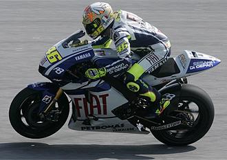 Rossi, durante los entrenamientos