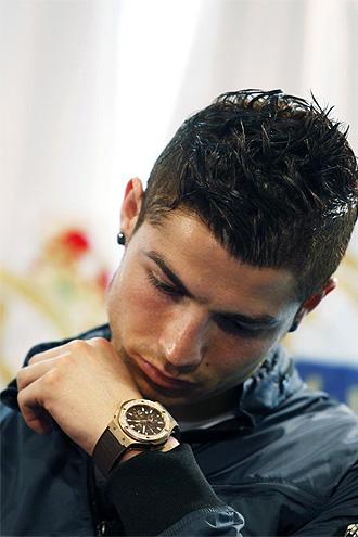 Cristiano Ronaldo, en un acto en el Santiago Bernab�u