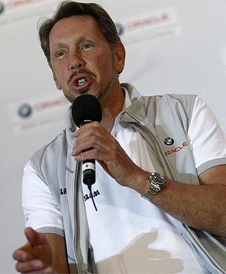 Larry Ellison, propietario del equipo americano BMW Oracle