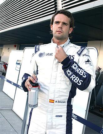 Andy Soucek, en los entrenamientos para novatos realziados en diciembre en Jerez.