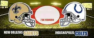 Los Saints y los Colts se enfrentar�n en la final de la Super Bowl