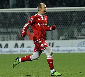 Robben, con las mallas blancas de la pol�mica