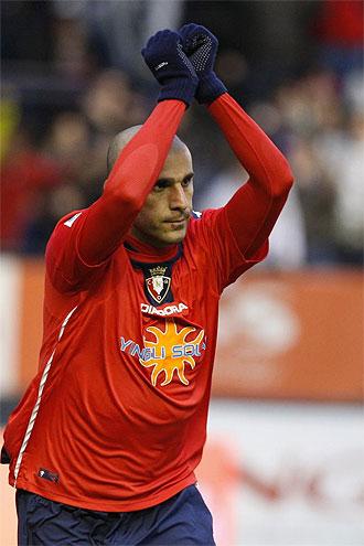 Aranda celebra el gol ante el Tenerife