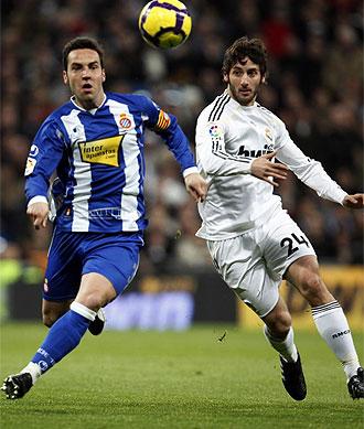 Granero, durante el partido ante el Espanyol