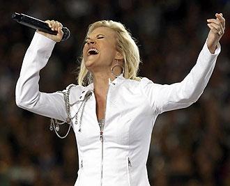 Carrie Underwood durante su actuaci�n