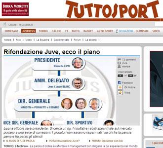 Una informaci�n del diario turin�s 'TuttoSport'.