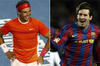 Nadal y Messi, los m�s valorados en 2009 por la afici�n.