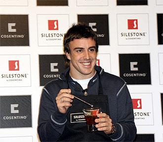 Fernando Alonso, en un acto de Silestone