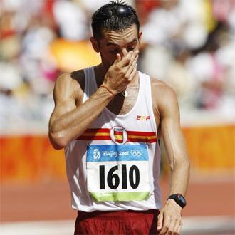 Paquillo, durante los Juegos Olímpicos de Pekín