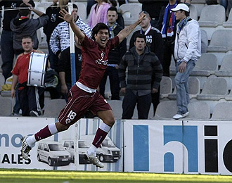 Ulloa celebra un gol del Castell�n.