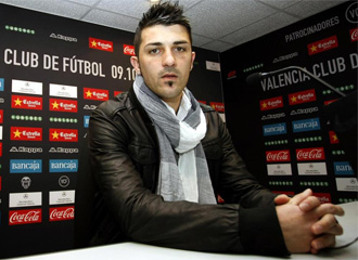 David Villa, en rueda de prensa.