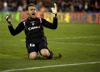 Renan celebra un gol del Xerez.