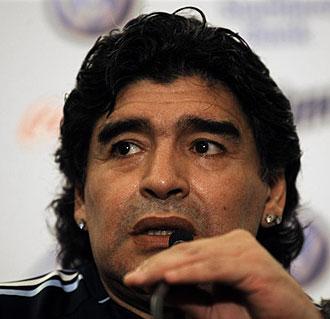 Diego Armando Maradona, en rueda de prensa