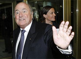Blatter, durante un acto