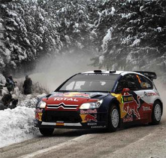 Dani Sordo durante la primera etapa en Suecia