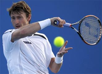 Juan Carlos Ferrero, durante un partido.