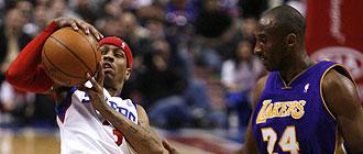 Kobe Bryant y Allen Iverson
