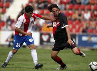 Imagen del partido de la primera vuelta jugado en Montilivi entre Girona y Rayo
