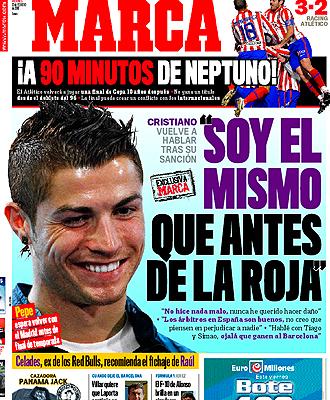 Portada del viernes 12 de febrero con la entrevista a Cristiano Ronaldo como gran atractivo