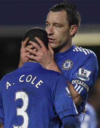 Terry y Cole, durante un partido.