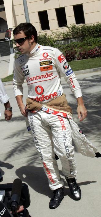 Fernando Alonso, con el mono de McLaren en 2007