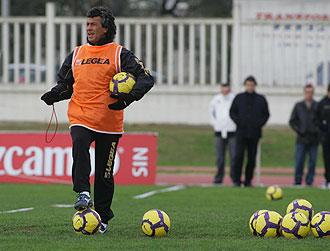 El entrenador del Xerez, el argentino Gorosito.