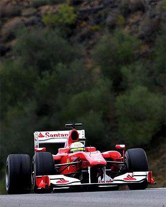 Massa, a los mandos de F10 de Ferrari en Jerez, el cuarto d�a de entrenamientos