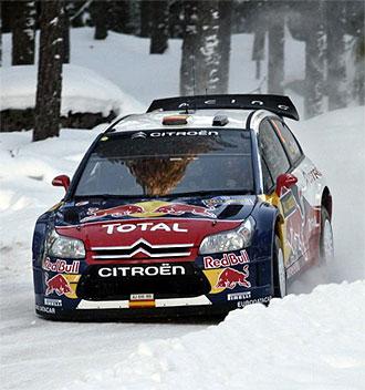Sordo, en plena disputa del Rally de Suecia
