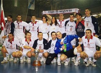 Los jugadores de Caja Segovia campeones en 1998